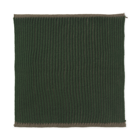 Ferm Living Dishcloth Twofold dark green cotton set of 2 26x26cm