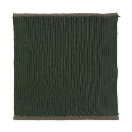 Ferm Living Vaatdoekje Twofold donker groen katoen set van 2 26x26cm