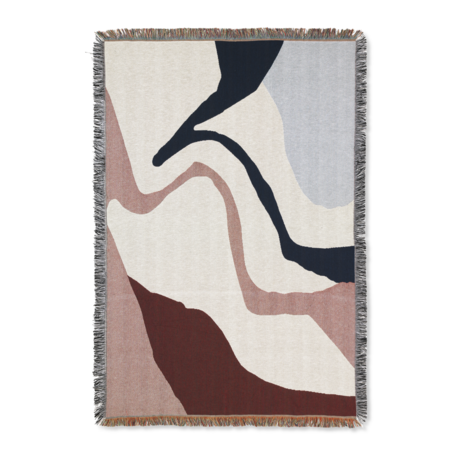 Ferm Living Vista Decke weiß cremefarbene Baumwolle 120x170cm