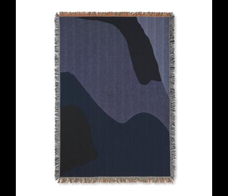 Ferm Living Vista Heimdecke dunkelblau Baumwolle 120x170cm