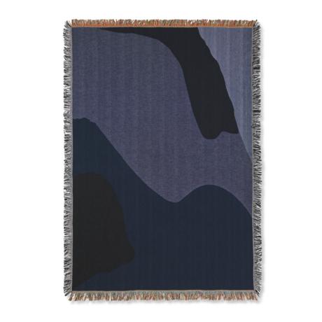 Ferm Living Woondeken Vista donker blauw katoen 120x170cm
