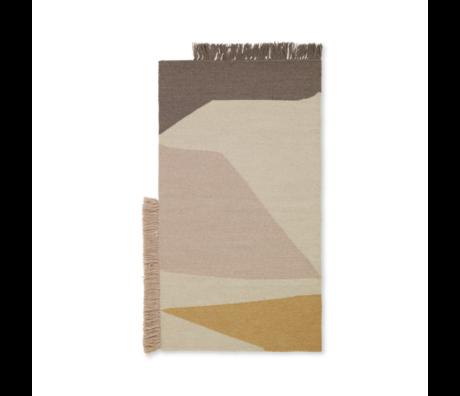 Ferm Living Mat Kelim Earth mehrfarbige Wolle Baumwolle 50x70cm