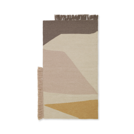 Ferm Living Mat Kilim Earth laine multicolore coton 50x70cm