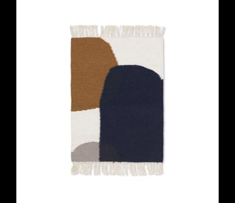Ferm Living Mat Kelim Merge mehrfarbige Wolle Baumwolle 50x70cm