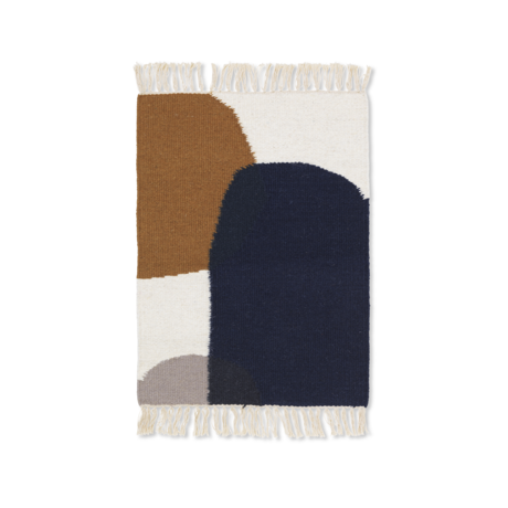Ferm Living Mat Kelim Merge multicolour wol katoen 50x70cm