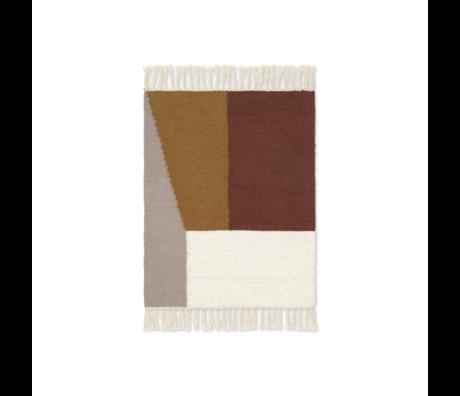 Ferm Living Mat Kelim Borders mehrfarbige Wolle Baumwolle 50x70cm