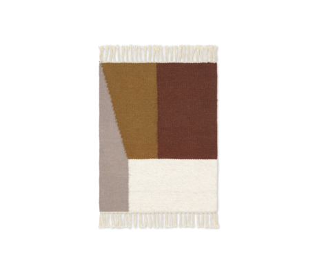 Ferm Living Mat Kelim Borders multicolour wool cotton 50x70cm