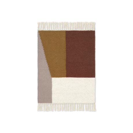 Ferm Living Mat Kelim Borders laine multicolore coton 50x70cm