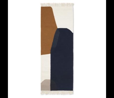 Ferm Living Tapis Kelim Runner Merge laine multicolore coton 180x70cm