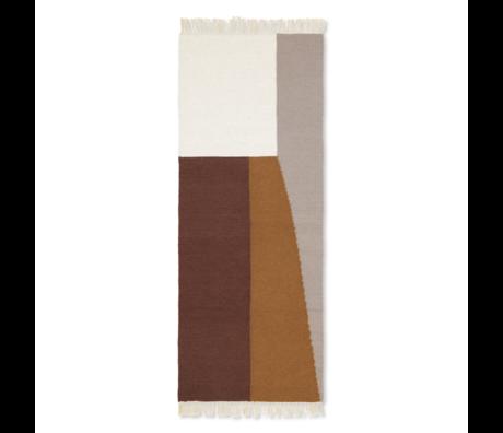 Ferm Living Tapis Kelim Runner Borders laine multicolore coton 180x70cm