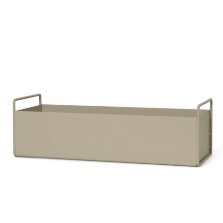 Ferm Living Pflanzbox Cashmere beige Metall S 45x14,5x17 cm