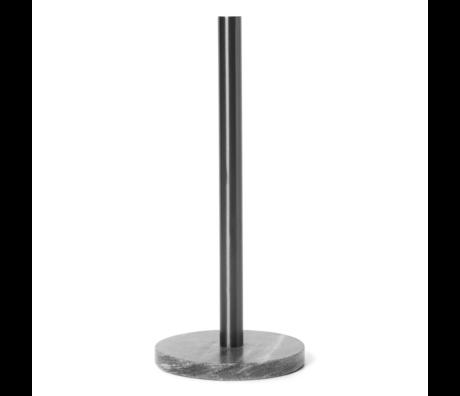 Ferm Living Porte-rouleau de cuisine en laiton noir métal 14x32cm