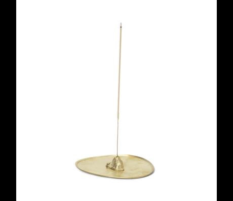 Ferm Living Brander Stone Incense brass goud metaal 10,6x8,4x1,7cm