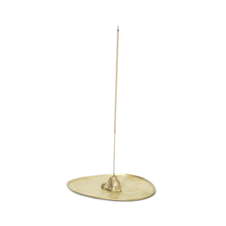 Ferm Living Brander Stone Incense brass gold metal 10.6x8.4x1.7 cm