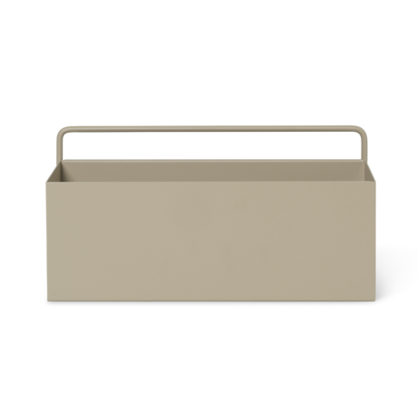 Ferm Living Plant box wall Rectangle Cashmere metal 30.6x14.6x15.6cm