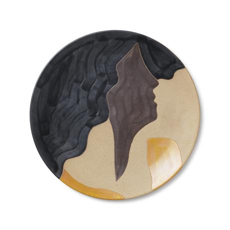 Ferm Living Teller Aya mehrfarbige Keramik Ø37.5x3cm