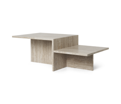 Ferm Living Salontafel Distinct Travertine bruin 100x55x35cm