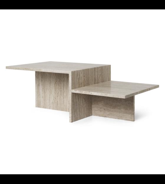 Ferm Living Table basse Distinct Travertine marron 100x55x35cm