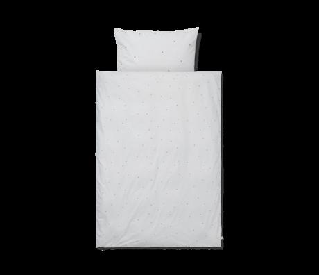 Ferm Living Duvet cover Dot embroidered Baby light gray cotton 70x100cm