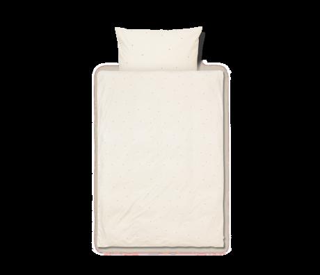 Ferm Living Dekbedovertrek Dot geborduurd Baby Off-White katoen 70x100cm