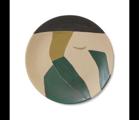 Ferm Living Teller Dayo mehrfarbige Keramik 37,5x3cm