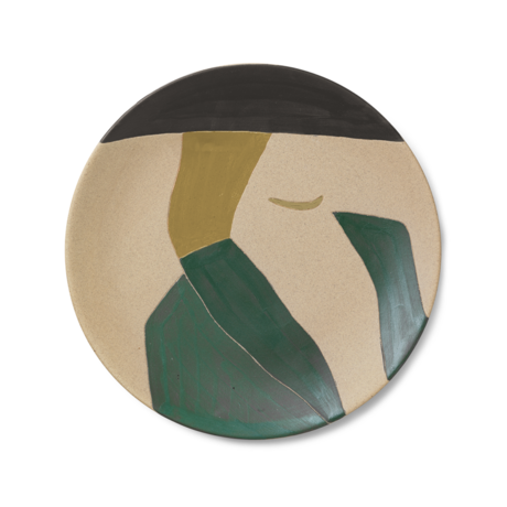 Ferm Living Assiette Dayo en céramique multicolore 37.5x3cm
