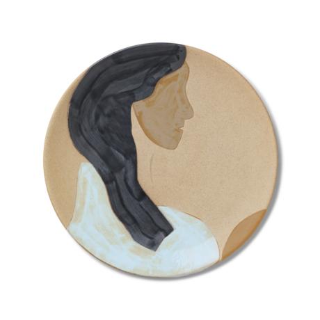 Ferm Living Plate Hessa multicolour ceramic 37.5x3 cm
