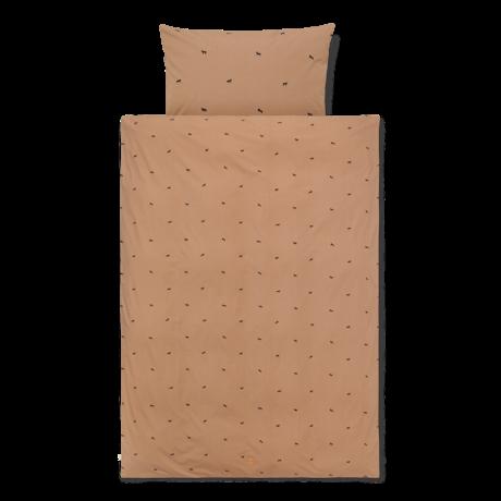 Ferm Living Duvet cover Horse Junior Tan brown cotton 100x140cm