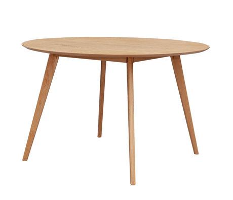 mister FRENKIE Eettafel Jodie bruin eikenhout Ø120x76,5cm
