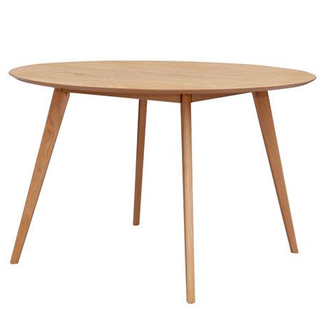 mister FRENKIE Table à manger Jodie chêne brun Ø120x76.5cm