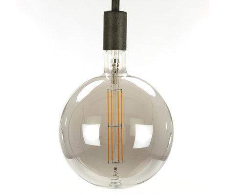 wonenmetlef Birne LED Lenny rauchgrau Glas E27 Ø20x28cm