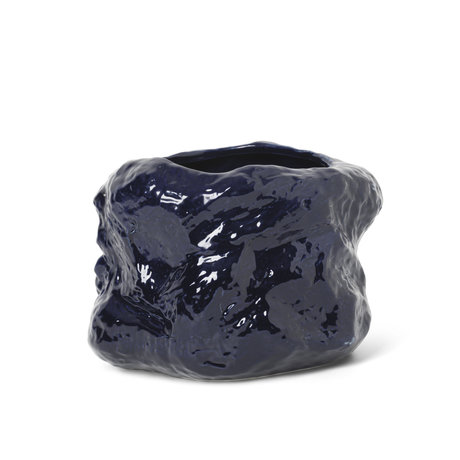 Ferm Living Pot Tuck blue ceramic Ø29x22cm