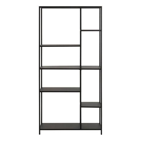 wonenmetlef Storage cupboard Jimmy black steel L 79.5x30x165cm