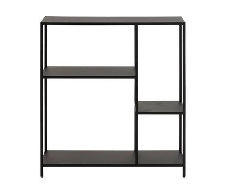 wonenmetlef Storage cupboard Jimmy black steel S 79.5x30x85cm