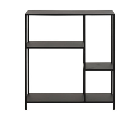 wonenmetlef Vakkenkast Jimmy zwart staal S 79,5x30x85cm