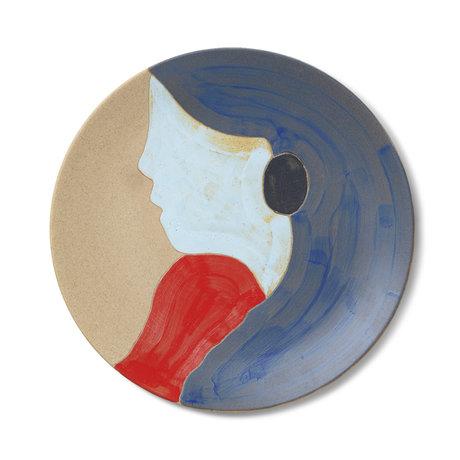 Ferm Living Plate Tala multicolour ceramic Ø37.5x3cm