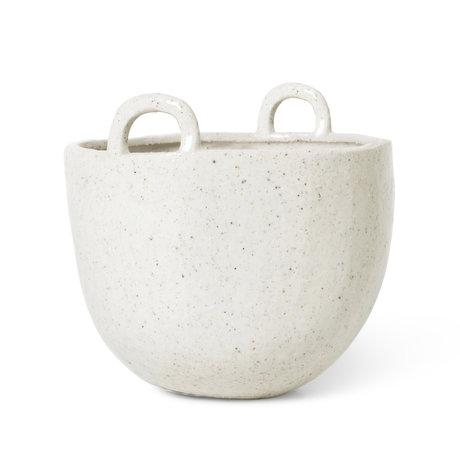 Ferm Living Pot Speckle Off-White earthenware Ø18.5x19cm