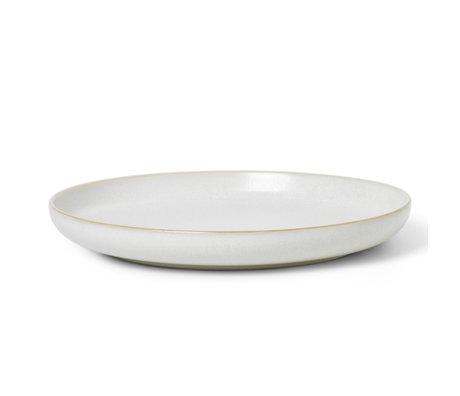 Ferm Living Plate Sekki Cream white ceramic L Ø25.5x3cm