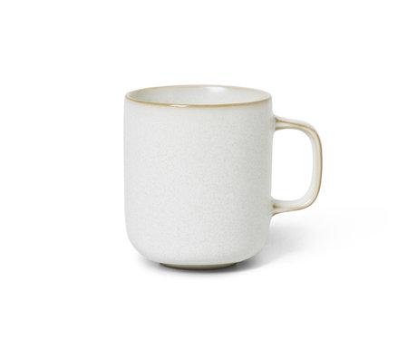 Ferm Living Mug Sekki Cream white ceramic 8x10.5x9cm