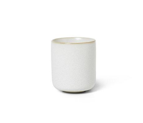 Ferm Living Mok Sekki Cream wit keramiek S Ø5,5x6,5cm