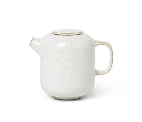 Ferm Living Milk jug Sekki Cream white ceramic 8x12x9.5cm