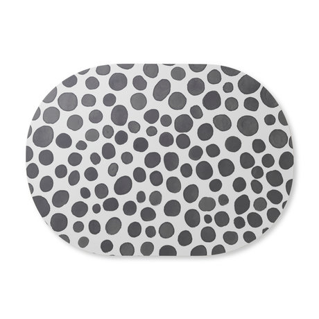 Ferm Living Set de table Safari girafe gris MDF liège 46x33cm