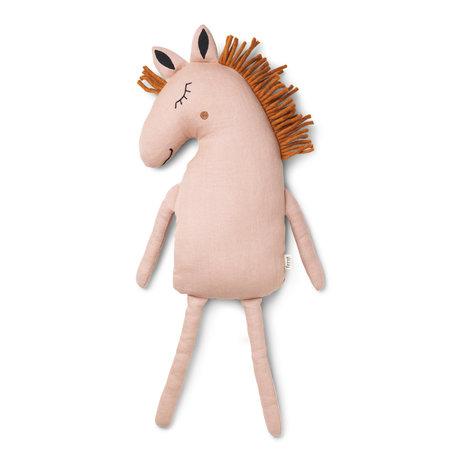 Ferm Living Hug Safari Horse dusty pink textile 22x8x70cm