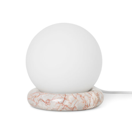Ferm Living Table lamp Rest Agate red marble glass Ø15x16cm