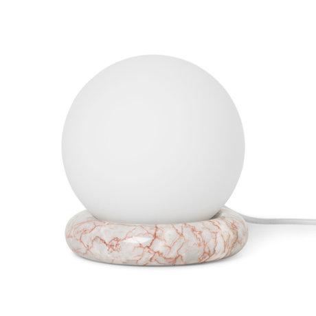 Ferm Living Tischlampe Rest Achat rotem Marmor Glas Ø15x16cm