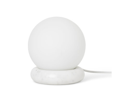 Ferm Living Tischlampe Rest weißem Marmor Glas Ø15x16cm