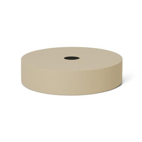 Ferm Living Lampenschirm Record Cashmere beige Metall Ø30x7cm