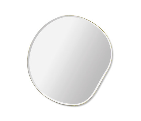 Ferm Living Miroir Pond verre noir métal S 52x1.5x50cm