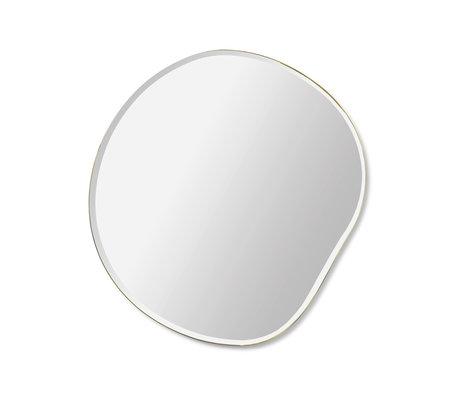 Ferm Living Mirror Pond black glass metal S 52x1.5x50cm