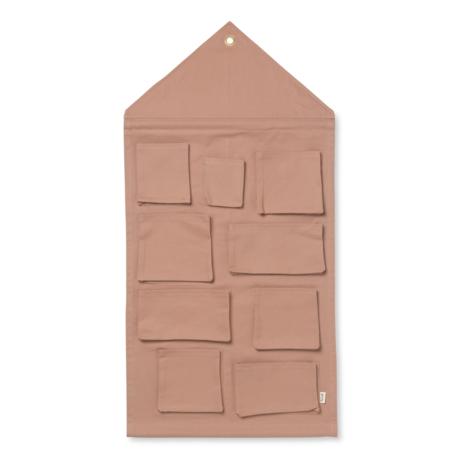 Ferm Living Opbergzak House dusty roze katoen 50x98cm